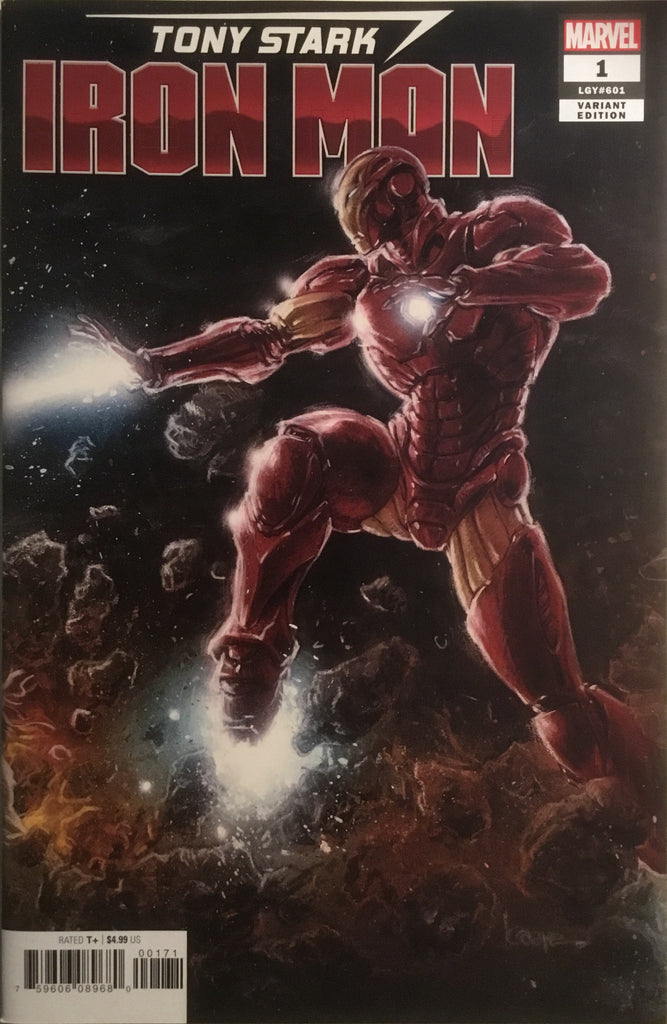TONY STARK IRON MAN # 1 CONNECTING VARIANT COVER