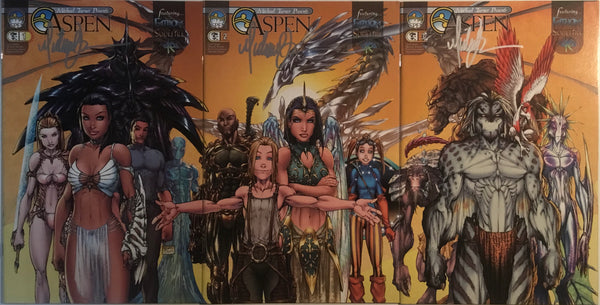 MICHAEL TURNER PRESENTS ASPEN # 1 - 3 SIGNED BY MICHAEL TURNER