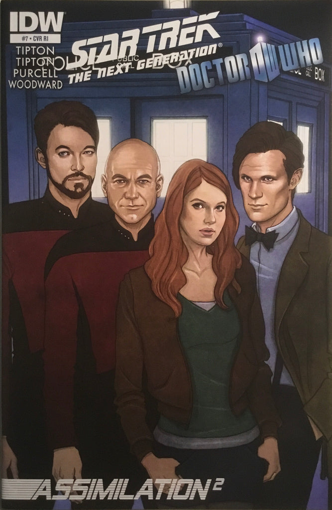STAR TREK THE NEXT GENERATION / DOCTOR WHO : ASSIMILATION 2 # 7 1:10 VARIANT COVER