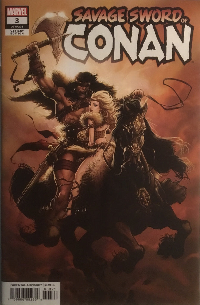 SAVAGE SWORD OF CONAN (2019) # 3 ANDREWS 1:25 VARIANT COVER
