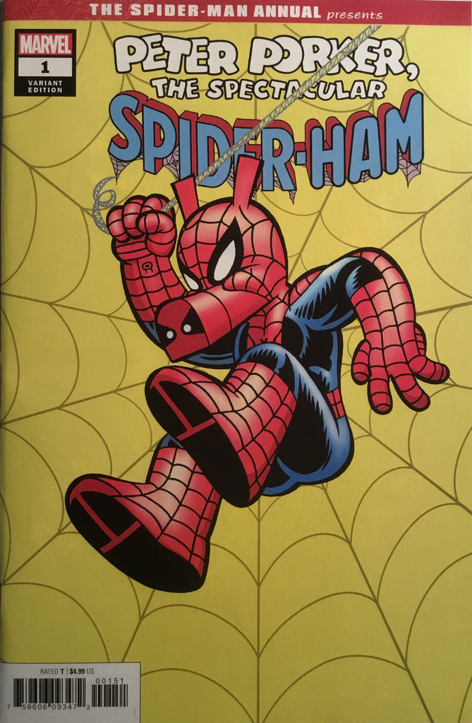 SPIDER-MAN ANNUAL # 1 PETER PORKER THE SPECTACULAR SPIDER-HAM ARMSTRONG HIDDEN GEM 1:50 VARIANT COVER