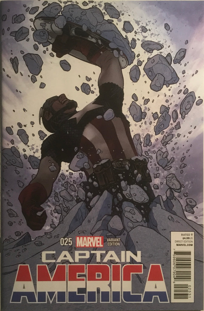 CAPTAIN AMERICA (2013-2014) # 25 HUGHES 1:50 VARIANT COVER SAM WILSON BECOMES CAPTAIN AMERICA