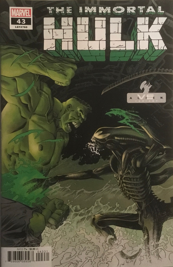 IMMORTAL HULK #43 ALIEN VARIANT COVER FIRST PRINTING