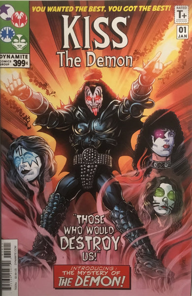 KISS THE DEMON # 1 SET OF FOUR VARIANT COVERS