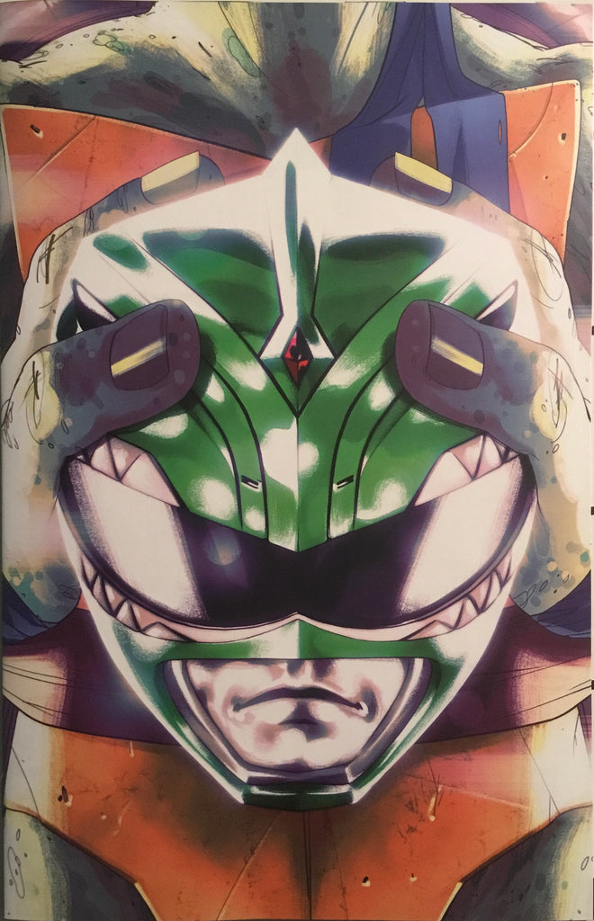 MIGHTY MORPHIN POWER RANGERS / TMNT # 2 MONTES 1:25 VARIANT COVER