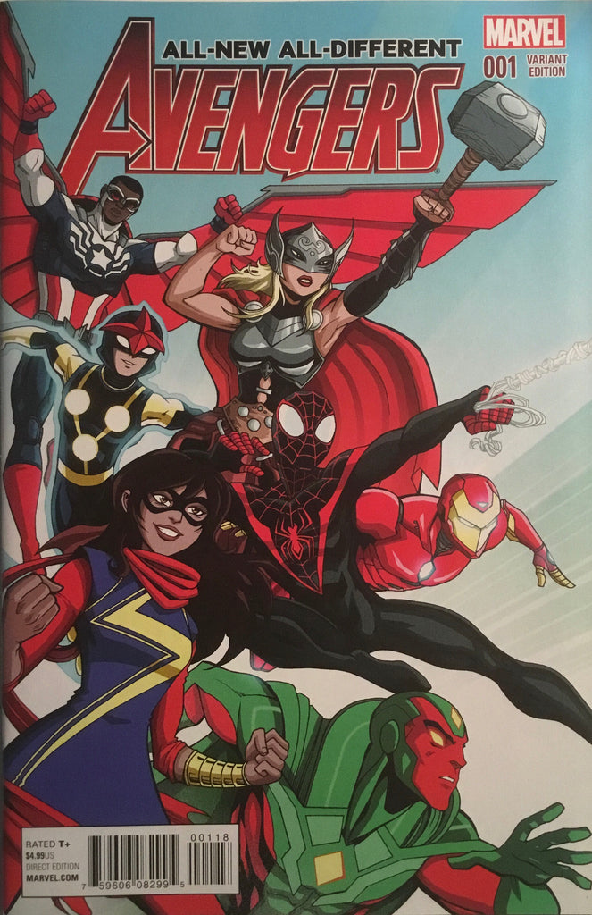 ALL-NEW ALL-DIFFERENT AVENGERS (2016) # 1 VECCHINO 1:20 VARIANT COVER