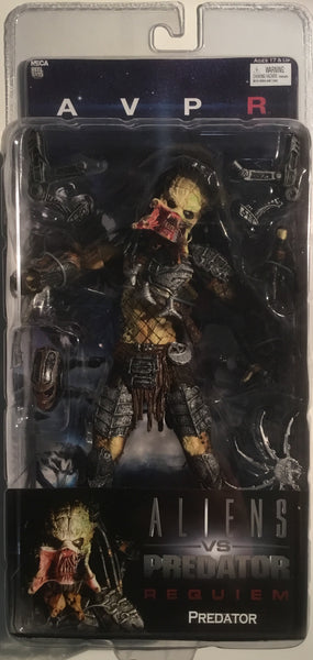 PREDATOR ACTION FIGURE OPEN MOUTH (ALIENS VS PREDATOR REQUIEM) 2008 NECA