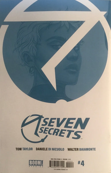 SEVEN SECRETS # 4 RETAILER ONE PER STORE VARIANT COVER