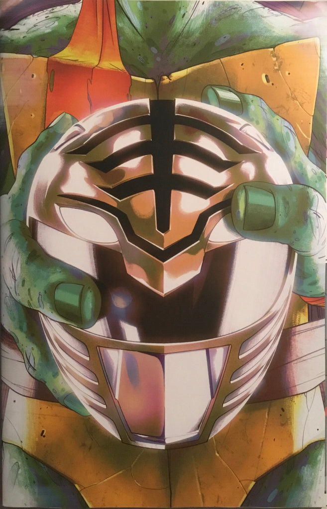 MIGHTY MORPHIN POWER RANGERS / TMNT # 4 RETAILER VARIANT COVER