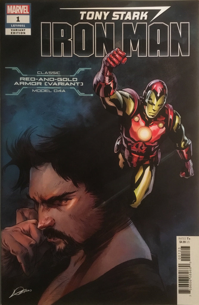 TONY STARK IRON MAN # 1 RED AND GOLD (VARIANT) ARMOR VARIANT COVER