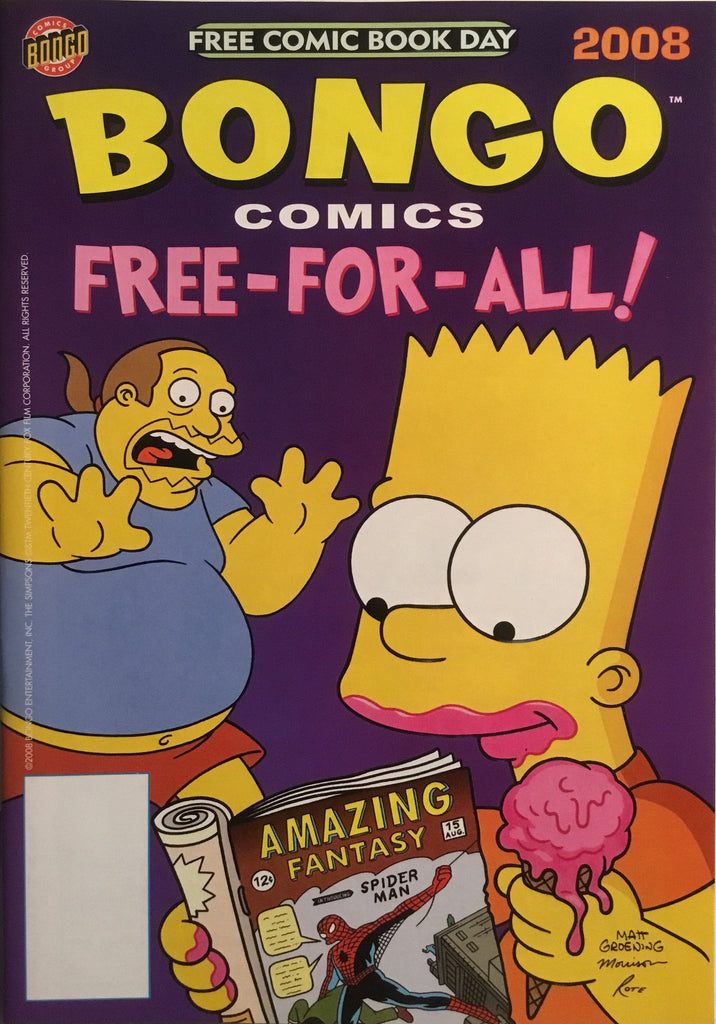 SIMPSONS BONGO COMICS FREE COMIC BOOK DAY 2008