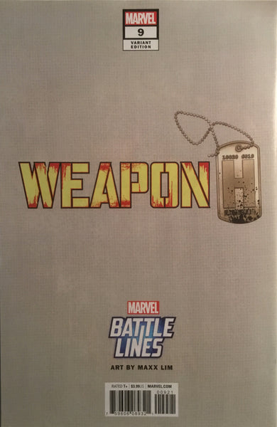 WEAPON H # 9 RED HULK BATTLE LINES VARIANT COVER