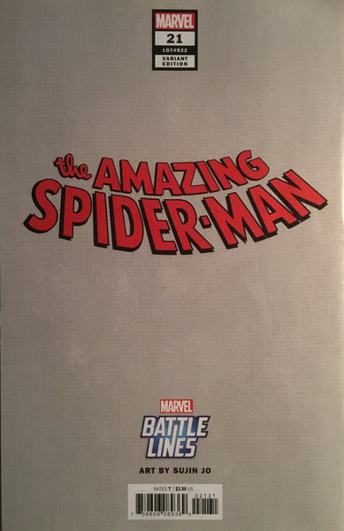 AMAZING SPIDER-MAN (2018-) #21 BLACK CAT BATTLE LINES VARIANT COVER