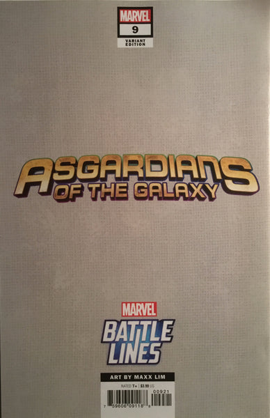 ASGARDIANS OF THE GALAXY # 9 HELA BATTLE LINES VARIANT COVER