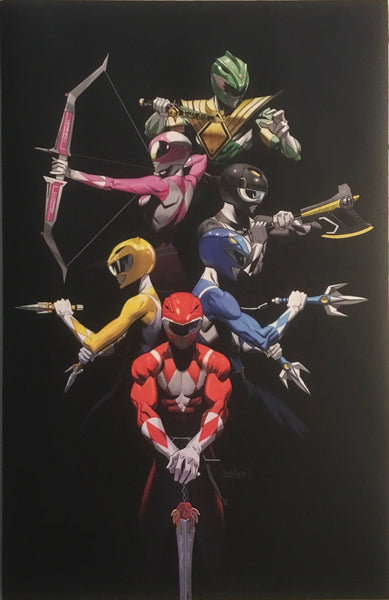 MIGHTY MORPHIN POWER RANGERS ANNUAL # 1 MORA 1:10 VARIANT COVER