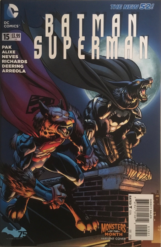 BATMAN / SUPERMAN (NEW 52) #15 MONSTERS OF THE MONTH VARIANT COVER