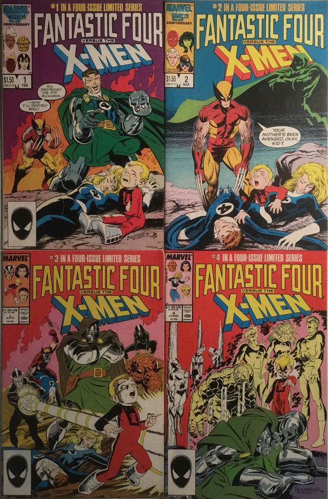 FANTASTIC FOUR VERSUS THE X-MEN SET # 1 - 4