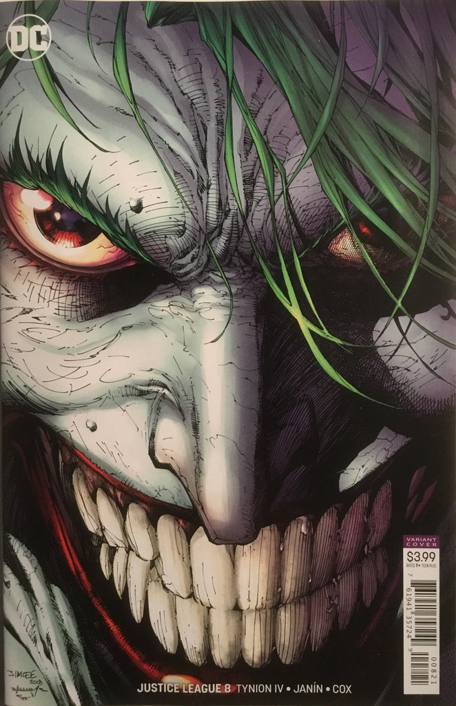 JUSTICE LEAGUE (2018) # 08 JIM LEE JOKER VARIANT COVER