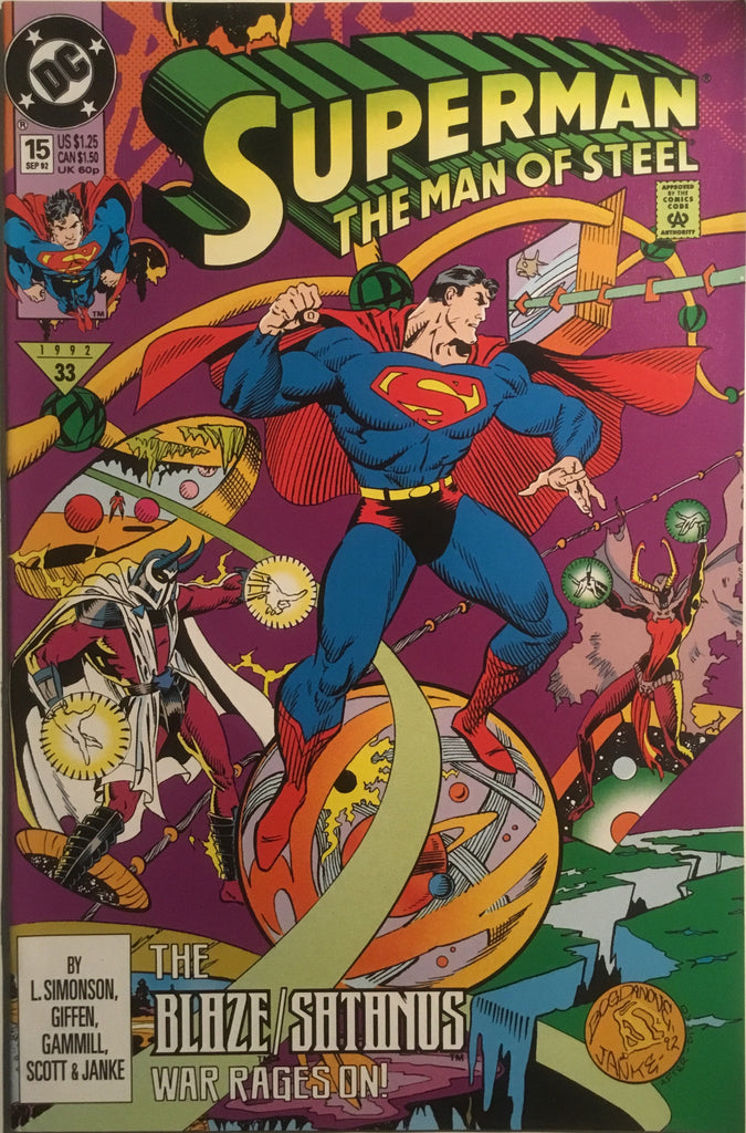 SUPERMAN THE MAN OF STEEL # 15