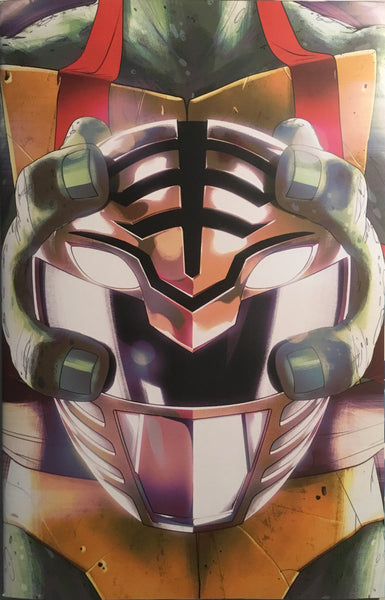 MIGHTY MORPHIN POWER RANGERS / TMNT # 3 RETAILER VARIANT COVER