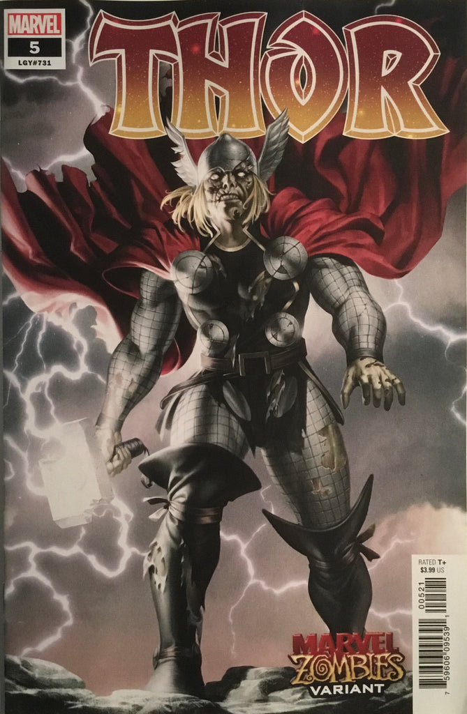 THOR (2020) # 5 ZOMBIE VARIANT COVER FIRST FULL APPEARANCE OF THE BLACK WINTER