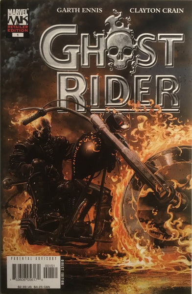 GHOST RIDER (2005) # 1 RETAILER VARIANT EDITION