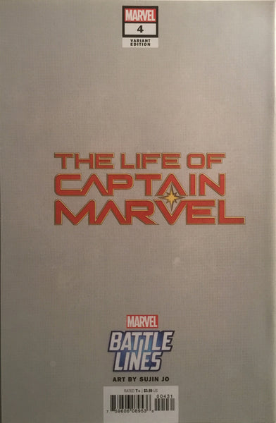 LIFE OF CAPTAIN MARVEL # 4 BATTLE LINES VARIANT COVER