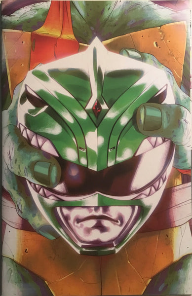 MIGHTY MORPHIN POWER RANGERS / TMNT # 4 MONTES 1:25 VARIANT COVER