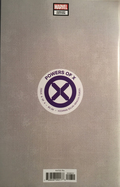 POWERS OF X # 6 SILVA 1:100 VIRGIN COVER