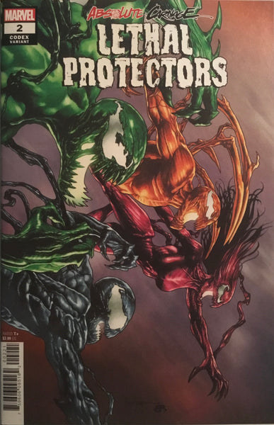 ABSOLUTE CARNAGE LETHAL PROTECTORS # 2 SUAYAN CODEX 1:25 VARIANT COVER