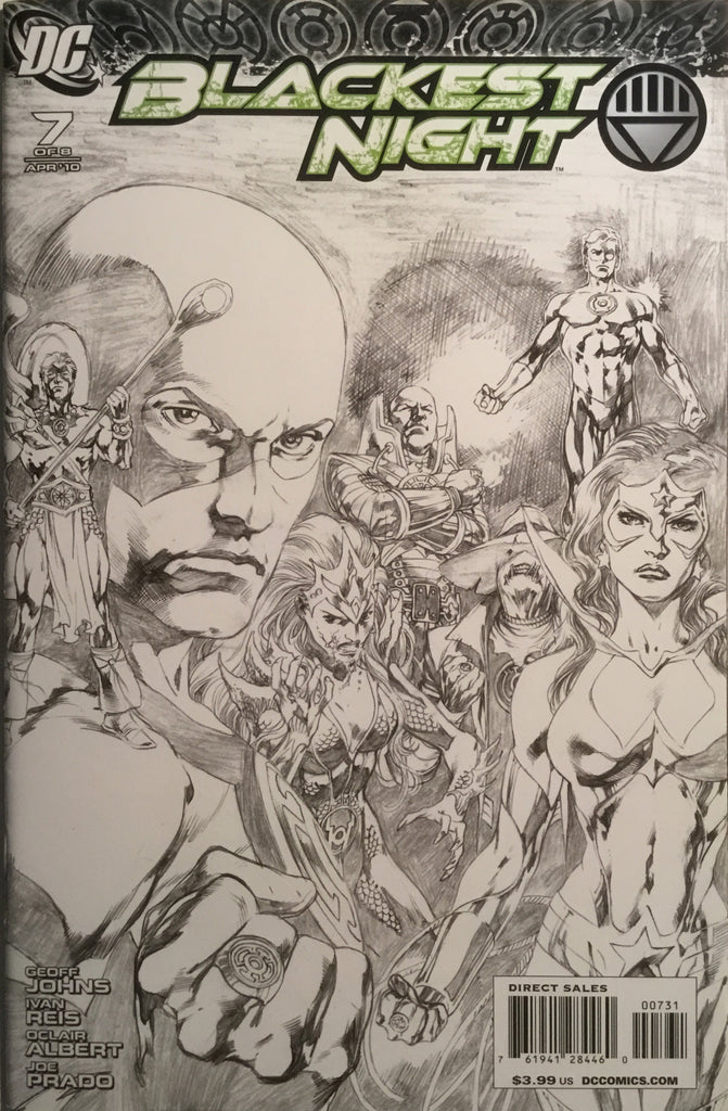 BLACKEST NIGHT # 7 FIRST APPEARANCE OF THE WHITE LANTERN 1:100 SKETCH EDITION