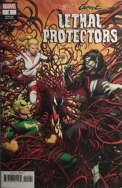 ABSOLUTE CARNAGE LETHAL PROTECTORS # 1 KEOWN 1:50 VARIANT COVER