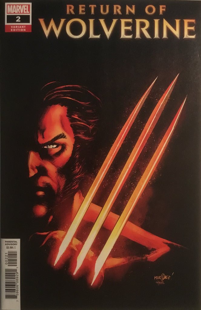 RETURN OF WOLVERINE # 2 MARQUEZ 1:25 VARIANT COVER