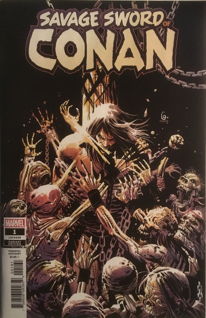 SAVAGE SWORD OF CONAN (2019) # 1 GARNEY 1:25 VARIANT COVER
