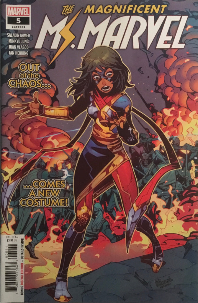 MAGNIFICENT MS MARVEL # 5 FIRST APPEARANCE OF NEW COSTUME