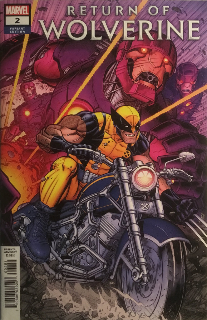 RETURN OF WOLVERINE # 2 BRADSHAW 1:50 VARIANT COVER