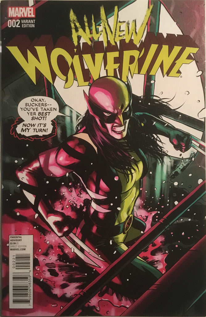 ALL NEW WOLVERINE # 2 LOPEZ 1:25 VARIANT COVER FIRST APPEARANCE OF GABBY (HONEY BADGER)