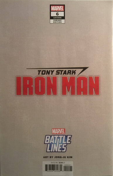 TONY STARK IRON MAN # 6 WAR MACHINE BATTLE LINES VARIANT COVER