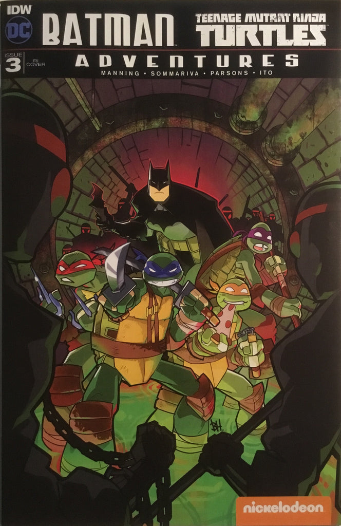 BATMAN / TMNT TEENAGE MUTANT NINJA TURTLES ADVENTURES # 3 (1:10 VARIANT COVER)