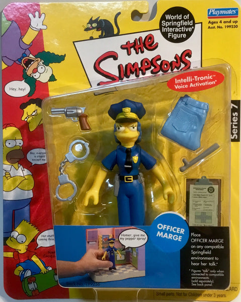 SIMPSONS WORLD OF SPRINGFIELD OFFICER MARGE INTERACTIVE FIGURE