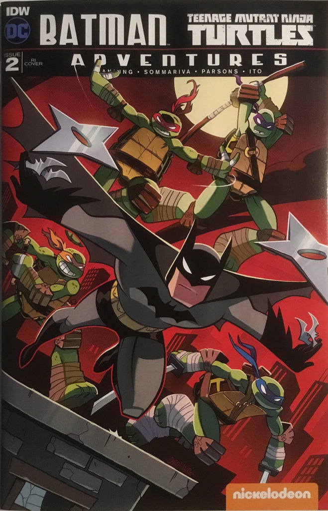 BATMAN / TMNT TEENAGE MUTANT NINJA TURTLES ADVENTURES # 2 (1:10 VARIANT COVER)