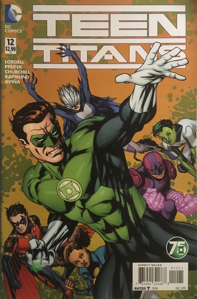 TEEN TITANS (NEW 52 SERIES 2) #12 GREEN LANTERN 75TH ANNIVERSARY VARIANT COVER