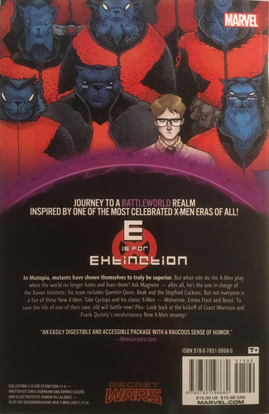 E IS FOR EXTINCTION (SECRET WARS WARZONES) GRAPHIC NOVEL