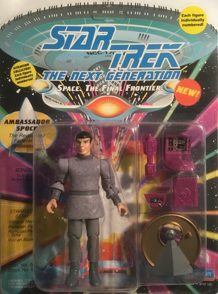 STAR TREK THE NEXT GENERATION AMBASSADOR SPOCK ACTION FIGURE