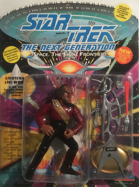 STAR TREK THE NEXT GENERATION LIEUTENANT (JG) WORF ACTION FIGURE