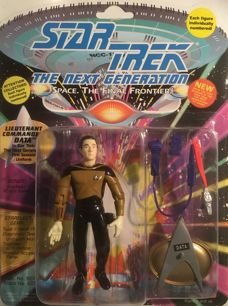 STAR TREK THE NEXT GENERATION LIEUTENANT COMMANDER DATA ACTION FIGURE