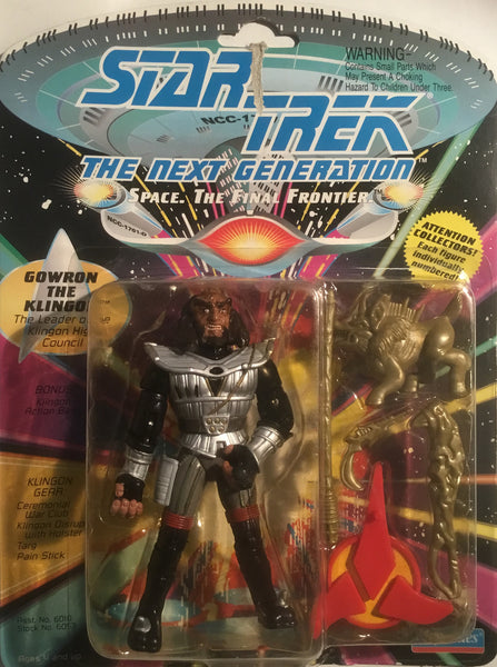 STAR TREK THE NEXT GENERATION GOWRON THE KLINGON ACTION FIGURE