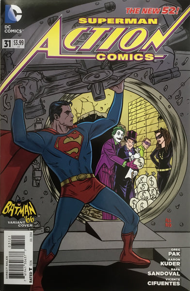 ACTION COMICS SUPERMAN #31 (THE NEW 52) BATMAN '66 1:25 VARIANT COVER