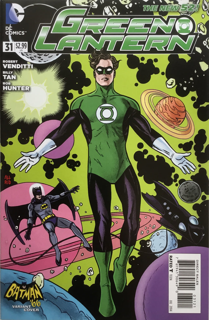 GREEN LANTERN #31 (THE NEW 52) BATMAN '66 1:25 VARIANT COVER