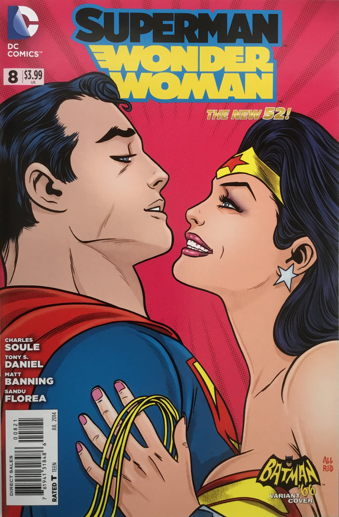 SUPERMAN / WONDER WOMAN # 8 (THE NEW 52) BATMAN '66 1:25 VARIANT COVER